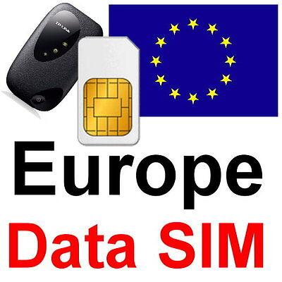 Vodafone Ireland Sim Microsim Or Nanosim   600 Free Web Sms  Europe Data Sim