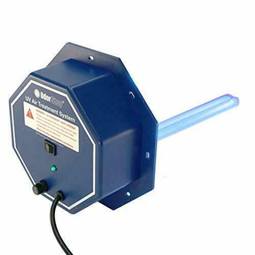 "OdorStop UV Air Purifier HVAC Cleaner Treatment System Airflow Sensor & 16"" Bulb"