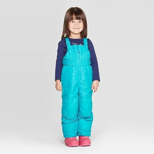 Toddler Girls' Snow Bib – Cat & Jack Turquoise Size 7 (NWT) Baby