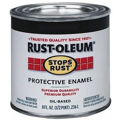 (RUST-OLEUM 7727730 Stops Rust 1/2 Pint Gloss Royal Blue Rust Enamel *)