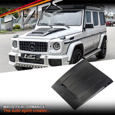 Carbon Brabus WideStar Style Bonnet Hood Scoop for Mercedes G W463 & AMG G55 G63