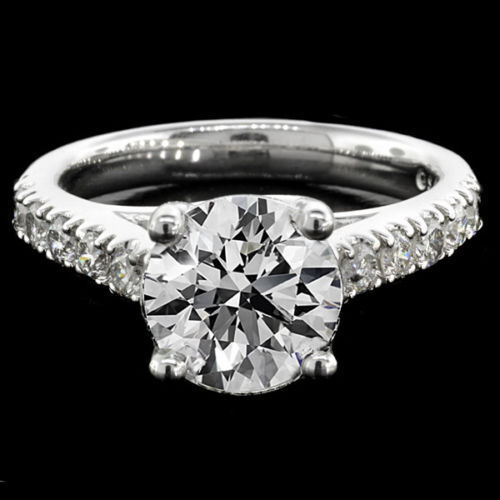 2.15 Ct Round Cut Diamond Engagement Ring 14k White Gold Certified D Vs2-si1