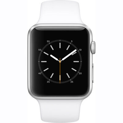 New Apple Watch 2 Series 1 42Mm Silver Aluminum Case White Sport Band