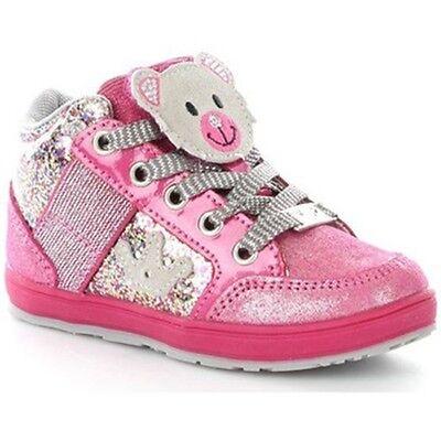 Lelli Kelly California Bärenjunge LK6402 Fuchsie Glitter Schuhe Stiefel Mädchen