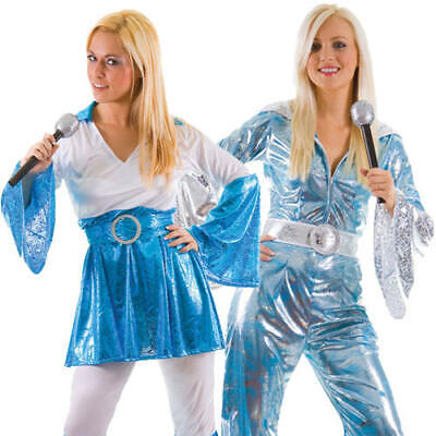 70s Dancing Queen Ladies Fancy Dress 1970s Singer Mama Mia Adults Disco (Disco Kostüm Mama)
