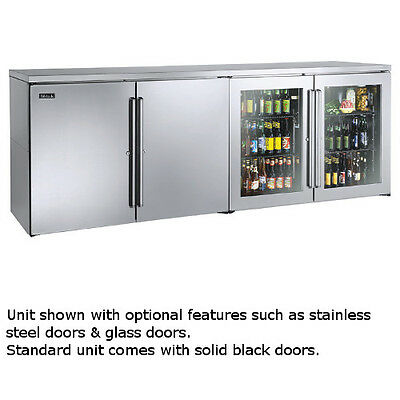 Perlick Bbrlp96 96 Low Profile Four-section Refrigerated Back Bar Cabinet