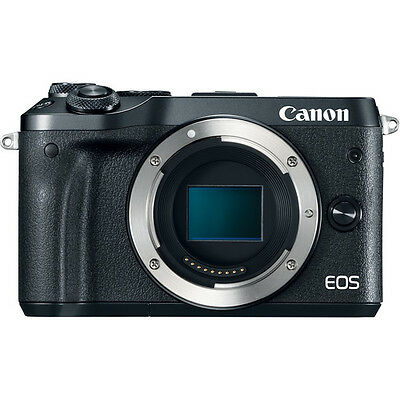 Canon EOS M6 Mirrorless Digital Camera - Body Only, Black