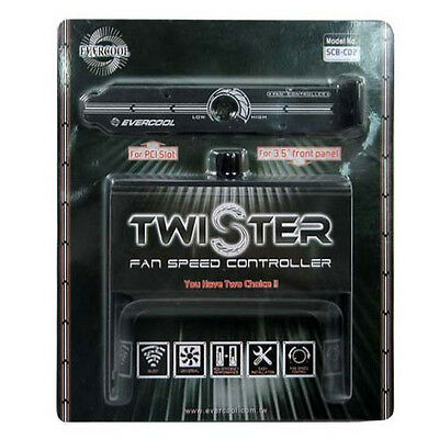 """Evercool SCB-CD2 Twister Fan Speed Controller PCI Slot 3.5"""" Bay Front Panel"""