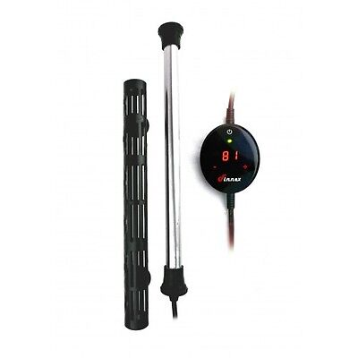 Finnex HMX 500 watt Titanium Aquarium Heater with LED Touch Digital Controller