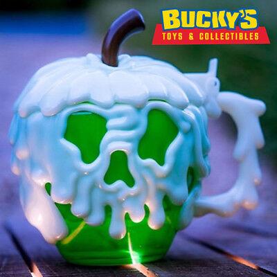 Disney Parks Evil Queen Poison Green Apple Glow In the Dark Halloween Stein Mug