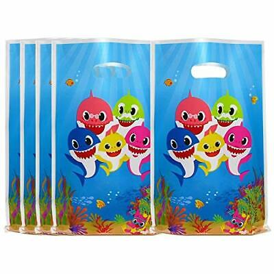 40 Pcs Cute Shark Party Favor Bags for Baby Shower, Shark Themed Party, Birthday Baby Shower Party Themes