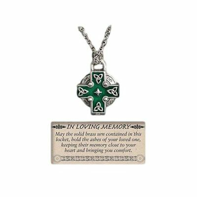 Celtic Cross Memorial Urn Necklace Locket on 24