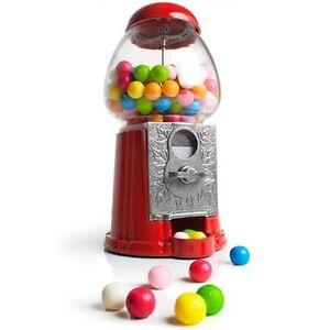 Red Retro Vintage Gumball Machine - Metal & Glass - Kids Sweet Snack Dispenser