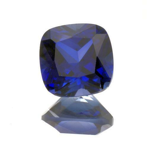 (8mm - 10mm) Cushion Cut AAA Lab Created Blue Sapphire