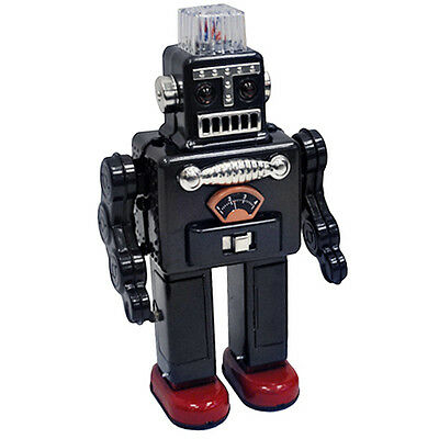 SMOKING ROBOT - Retro Tin Collectable Ornament - Dark Grey TTR2011DG