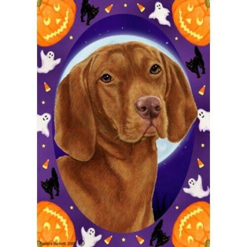 Halloween Garden Flag - Vizsla 120521