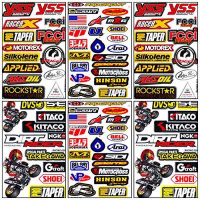 Dirt Bike Racing Decal Sticker Kit Set 6 Sheets #DR-602