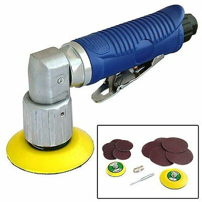 MINI DA DUAL ACTION ORBITAL AIR SANDER TOOL 70mm + 50mm SANDING PADS + 10 DISCS