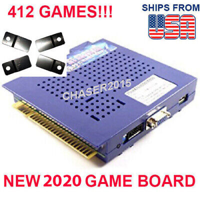 NEW 412 in 1 Game Elf JAMMA Arcade Multigame Board VERTICAL Monitor US SELLER