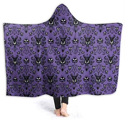 MSGUIDE Haunted Mansion Hooded Blanket Anti-Pilling Flannel