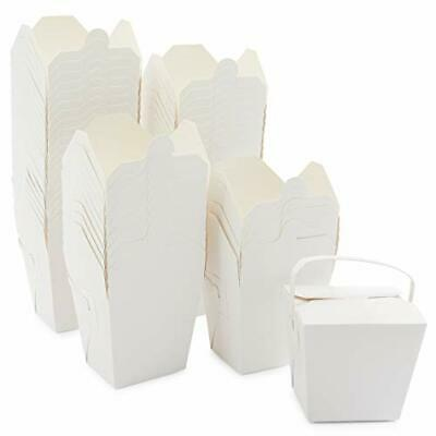 Take Out Boxes White Paper To-go Food Containers 32 Oz 50 Pack