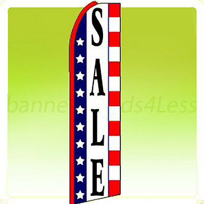 Sale Swooper Flag Feather Flutter Banner Sign 11.5 - Stars Stripes Q