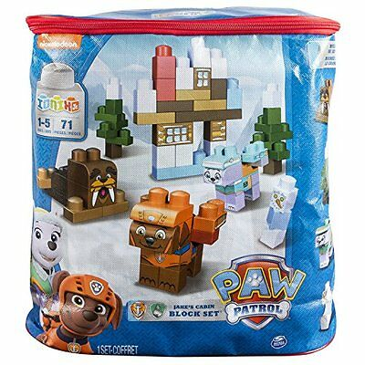 Paw Patrol Adventure Bay Block Set Jakes Cabin-Toy Game for Young children