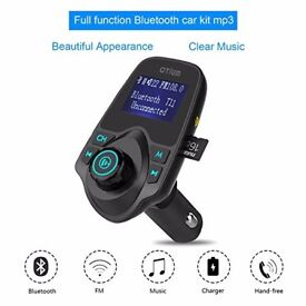 T11 Bluetooth in-car transmitter storage unit and charger USB sdcard(can be linked with your mobile)