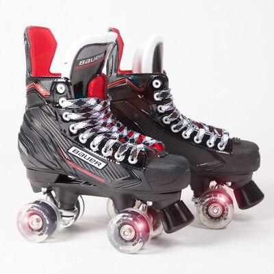 Bauer Quad Roller Skates - NSX - 2018 Model - Light up/Flashing Wheels ()