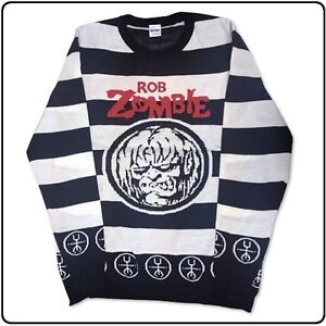New Rob Zombie Striped Sweater New Never Worn