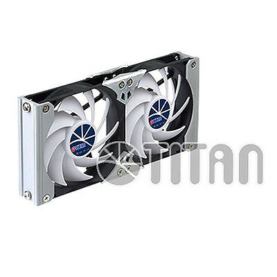 Titan Ttc-sc09tb Multi-purpose Dual Rack 120mm Fan Kit Speed Control 12v 24v