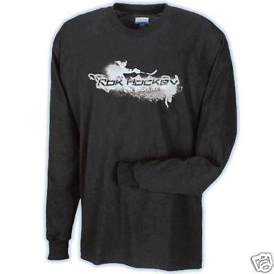 Long Sleeve Black Gloves (RBK Reebok Gloves R Off Black Long Sleeve Hockey T- Shirt )