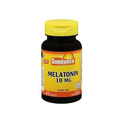 6 Pack Sundance Vitamins Melatonin 10mg 45 Tablets Each