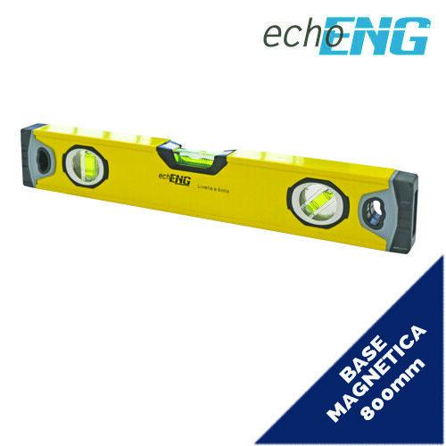 Livella professionale magnetica 800 mm alluminio 3 livelle precisione SM 60 LP80