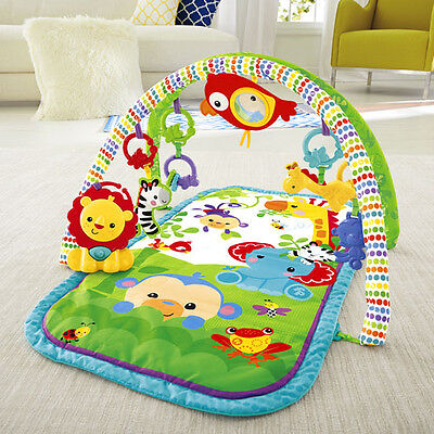 Fisher-Price Busy Baby 3-in-1 Gym Rainforest Theme Activity Mat Toy Newborn Play