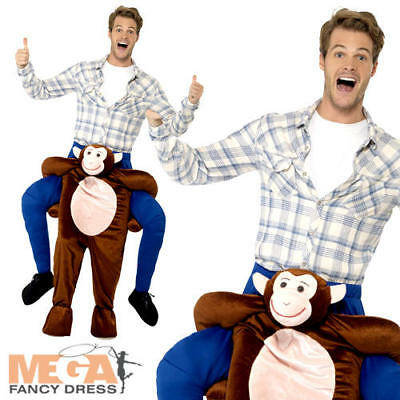 Piggyback Monkey Adult Fancy Dress Animal Ape Safari Zoo Ride On Costume Outfit](Safari Costume Male)