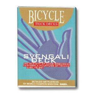 Carte-Magia-Svengali-Deck-Carte-Trucchi-Magia-Bicycle-rRro-Rosso