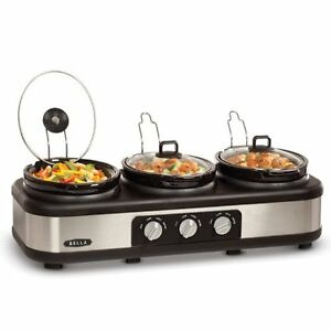 Bella Triple Slow Cooker with Lid Rests- Brand New In Box Windsor Region Ontario image 1