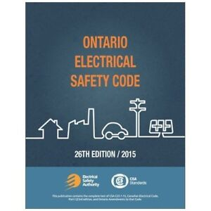 Ontario electrical safety code 2015 with handbook
