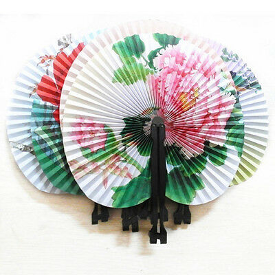 3Pcs Foldable Chinese Oriental Floral Paper Hand Fans Party Table Favors Dreamed