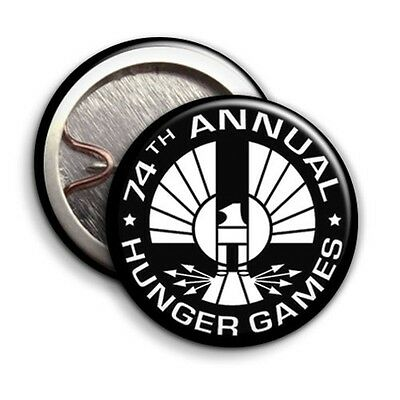 74th Annual Hunger Games - Button Badge - 25mm 1 inch - Humour / Parody Style ()