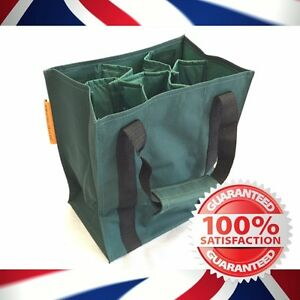 High Quality 6 bottle - Wine bottle carrier bag - Free P&P