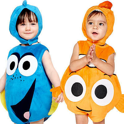 Finding Dory or Nemo Toddler Fancy Dress Disney Fish Infant Costume 3-24 Months - Nemo Fancy Dress Costume