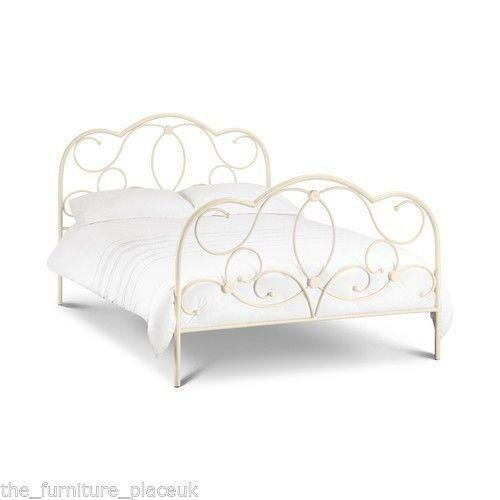Cream Metal Single Bed Frame Ebay