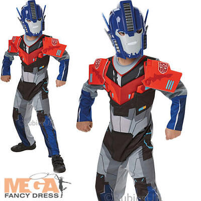 Transformers Optimus Prime Deluxe Boys Fancy Dress Superhero Childs Kids Costume