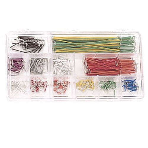 350 Piece Jumper Wire Kit for Breadboarding, 22 AWG, Assorted Colors and Lengths