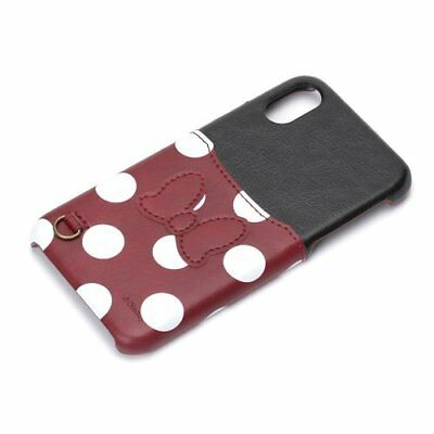 Disney iPhone X Hard Case with Pocket Minnie Mouse PG-DCS285MNE Japan new .