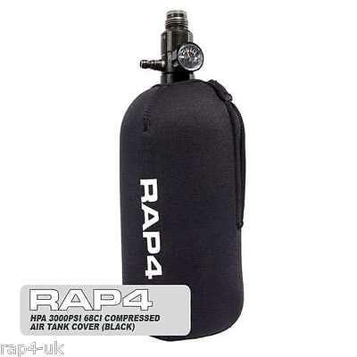 RAP4 Black HPA 68ci 4.5K High Pressure Paintball Air Tank Cover [FU6]