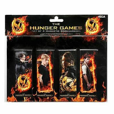 NEW The Hunger Games Set of 4 Magnetic Bookmarks Book Marks Katniss Peeta