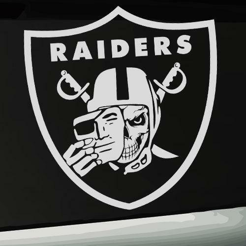 Oakland raiders decal ebay Getting stickers off glass